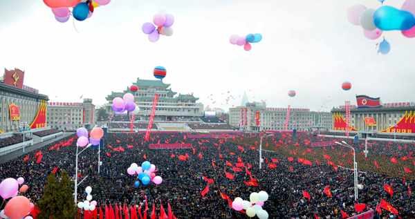 (1) Pyongyang City Army-People Rally