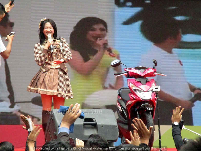 [Video] Intip meriahnya launching All New Honda Beat CBS ISS 2016 dikota Medan bersama JKT48 !