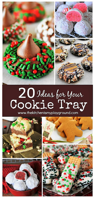 20 Ideas for Your Christmas Day Cookie Tray ~ These cookie ideas are sure to be a hit on Christmas day!  www.thekitchenismyplayground.com