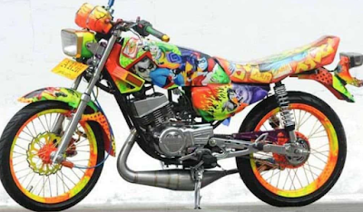 Modifikasi AirBrush Motor RX KING