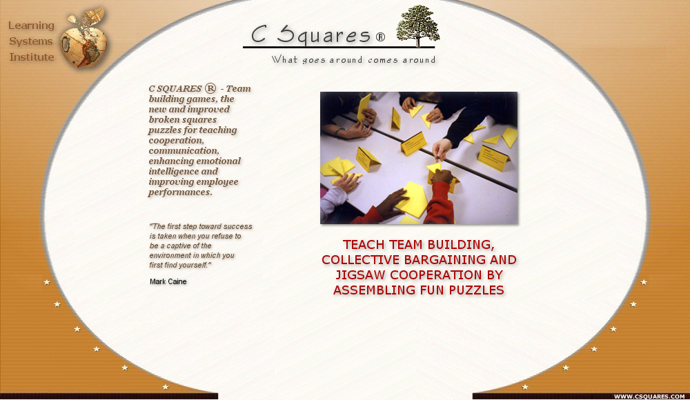 C Squares ® - a broken squares team building activity for adults, corporate team building activity