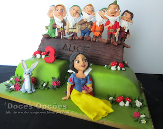 Birthday Cake with Snow White and the Seven Dwarfs