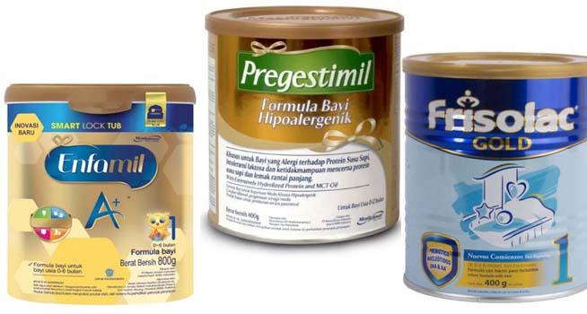 merk susu formula bayi tanpa gula tambahan