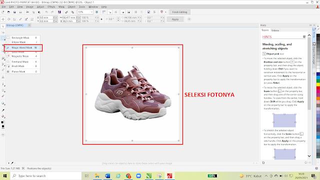 Cara Menghilangkan Background Putih Pada Foto Menggunakan Corel Draw