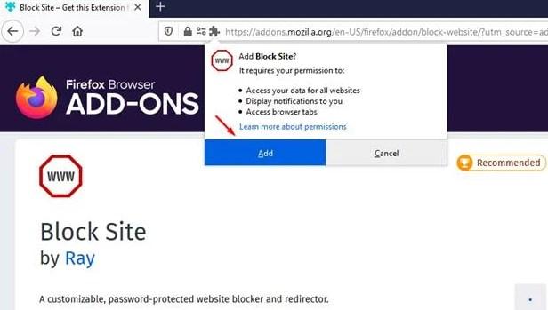 Cara Blokir Situs Web di Browser Mozilla Firefox