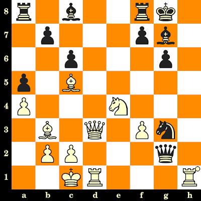 Les Blancs jouent et matent en 3 coups - Samuel Reshevsky vs D A Yanofsky, Lugano, 1968