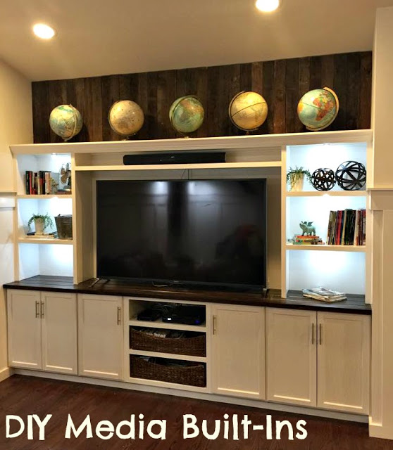 DIY built in entertainment center