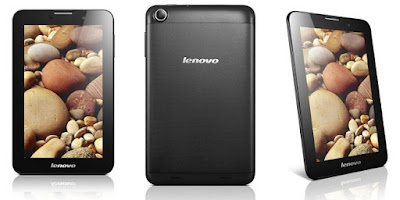 Lenovo IdeaTab A1000 Specifications - LAUNCH Announced 2013, January  Tablet with no support for GSM voice communication, SMS, and MMS This is not a GSM device, it will not work on any GSM network worldwide. DISPLAY Type TFT capacitive touchscreen, 16M colors Size 7.0 inches (~57.3% screen-to-body ratio) Resolution 600 x 1024 pixels (~170 ppi pixel density) Multitouch Yes BODY Dimensions 199 x 121 x 10.7 mm (7.83 x 4.76 x 0.42 in) Weight 340 g (11.99 oz) SIM No PLATFORM OS Android OS, v4.1 (Jelly Bean), upgradable to v4.2 (Jelly Bean) CPU Dual-core 1.2 GHz Cortex-A9 Chipset Mediatek MT8317 GPU PowerVR SGX531u MEMORY Card slot microSD, up to 32 GB (dedicated slot) Internal 4/16 GB, 1 GB RAM CAMERA Primary No Secondary VGA Features No Video No NETWORK Technology No cellular connectivity 2G bands N/A GPRS No EDGE No COMMS WLAN Wi-Fi 802.11 b/g/n, hotspot GPS Yes USB microUSB v2.0, USB Host Radio No Bluetooth v4.0 FEATURES Sensors Accelerometer Messaging Email, Push Email, IM Browser HTML Java No SOUND Alert types Vibration; MP3, WAV ringtones Loudspeaker Yes, with stereo speakers 3.5mm jack Yes  - Dolby Digital Plus BATTERY  Non-removable Li-Po 3500 mAh battery Stand-by Up to 336 h Talk time Up to 8 h Music play  MISC Colors Black, White  - MP3/WAV/WMA/AAC player - MP4/H.264 player - Document viewer - Photo viewer/editor