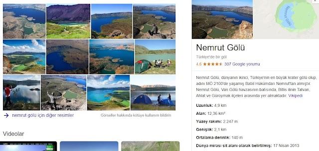 Türkiye'nin En Büyük Krater Gölü: Nemrut Gölü