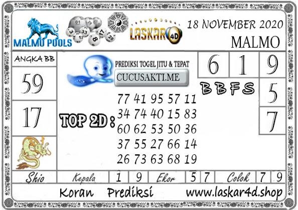 Prediksi Togel MALMO LASKAR4D 18 NOVEMBER 2020