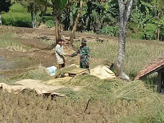 Warga  Sambut Gembira  Kehadiran Program TMMD Di Desanya
