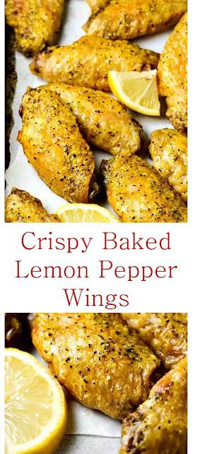Crispy Baked Lemon Pepper Wings #crispy #crispybakedchicken #bakedchicken #lemonpepper #wingschicken