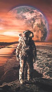 Astronaut Mobile HD Wallpaper