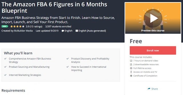 [100% Free] The Amazon FBA 6 Figures in 6 Months Blueprint