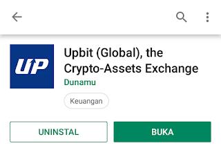 Uang gratis - Upbit