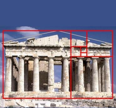 Resultado de imagen de partenon proporcion aurea