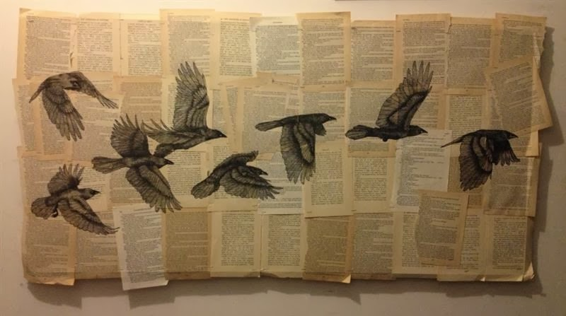 Viral City: Amazing Animal Artwork Drawn On Old Book Pages