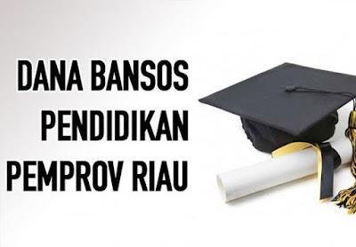 Ini Daftar Penerima Dana Bantuan Sosial Pendidikan Pemprov. Riau