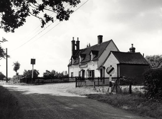The Hope and Anchor in the 1950s  Photograph by B.H. Warne, part of the Images of North Mymms collection