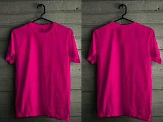 mentahan kaos polos png pink
