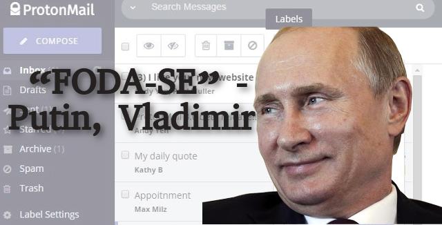 ProtonMail bloqueado na Rússia