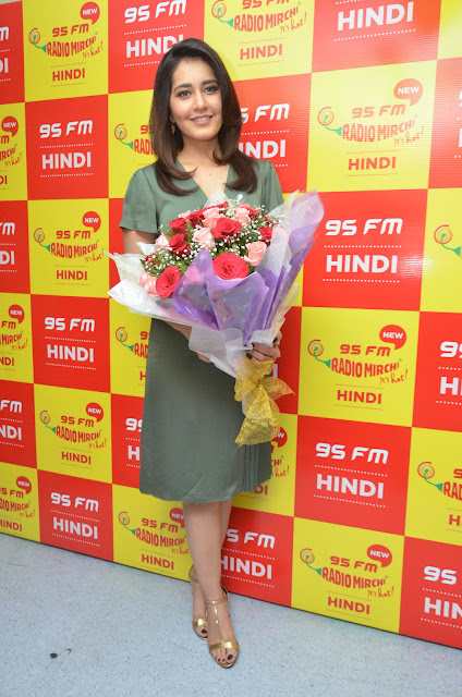 Actress Raashi Khanna at Radio Mirchi 95 FM
