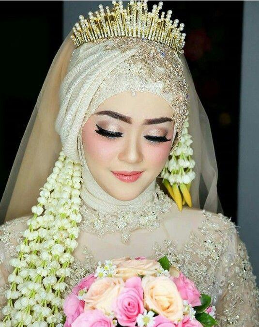 rias pengantin hijab untuk wajah bulat