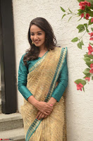 Tejaswi Madivada looks super cute in Saree at V care fund raising event COLORS ~  Exclusive 059.JPG