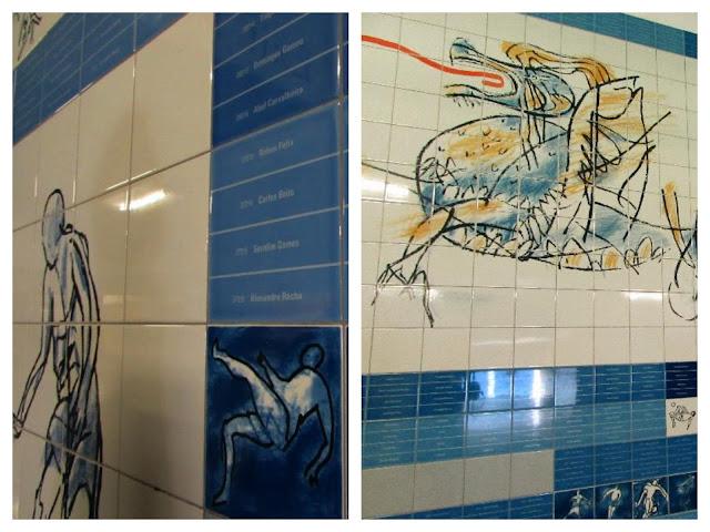 Painel de Azulejos na visita ao Museu do Futebol Clube do Porto