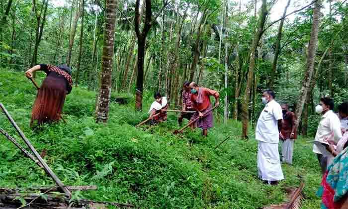 Balal Grama Panchayath with new method of Rainwater harvesting