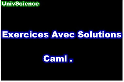 Exercices Avec Solutions Caml PDF.