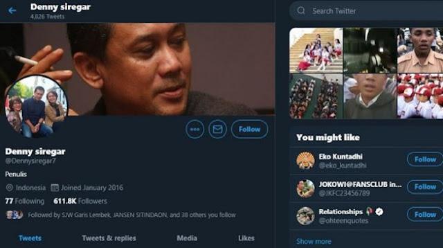 Senggol Anak STM, Denny Siregar 'Dicari' di Twitter