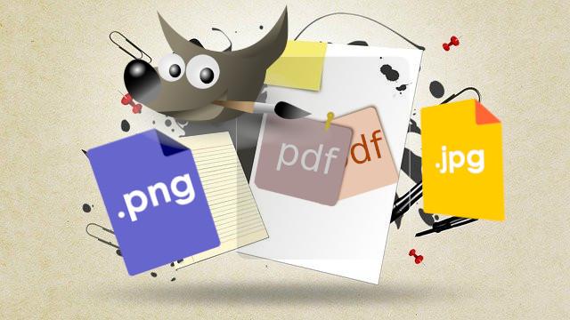 طريقة تحويل ملف PDF إلى صورة باستخدام GIMP