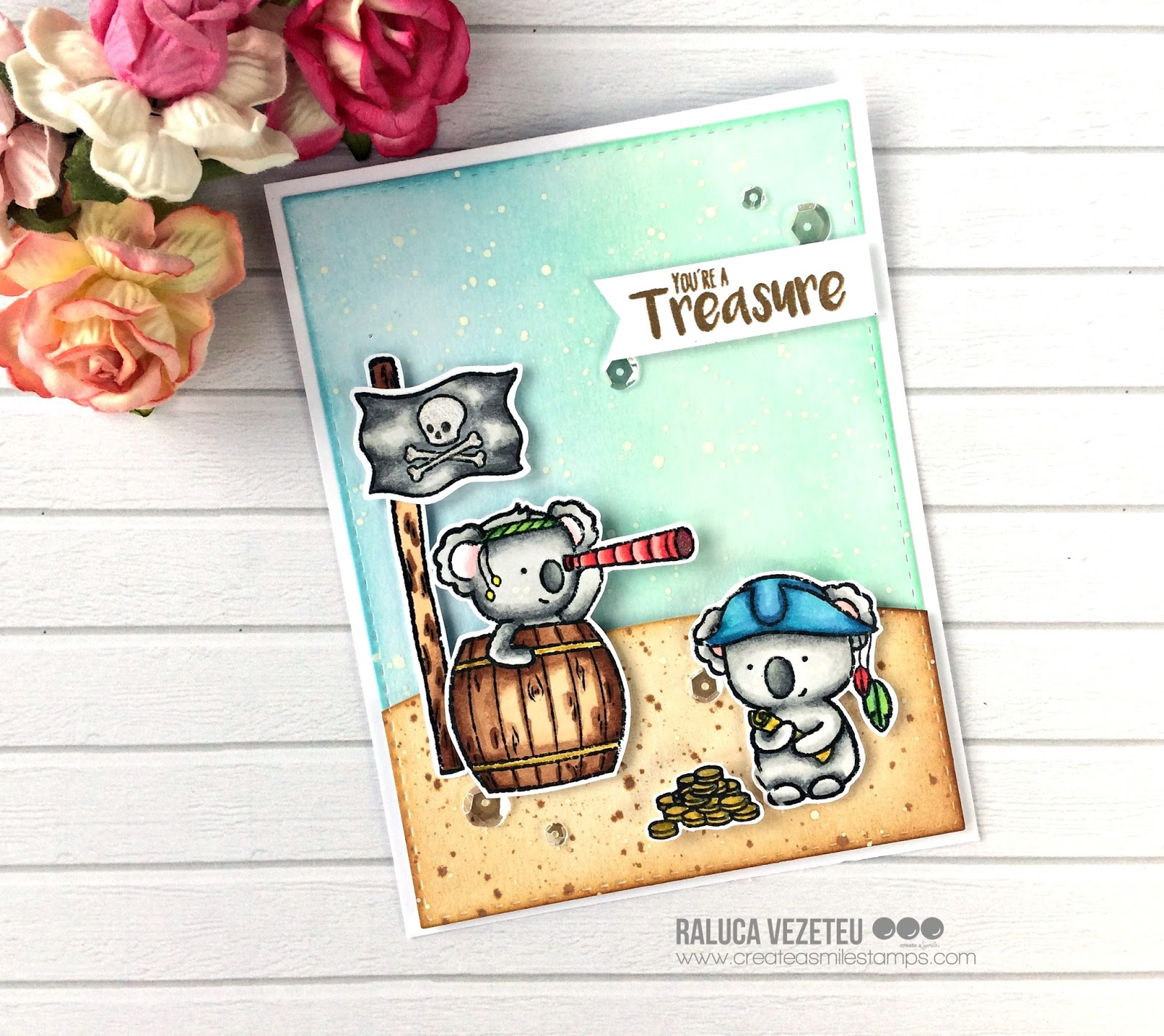 I've got the idea for this card from the hot summer that seems to ever end! What  a better set for summer, right?!