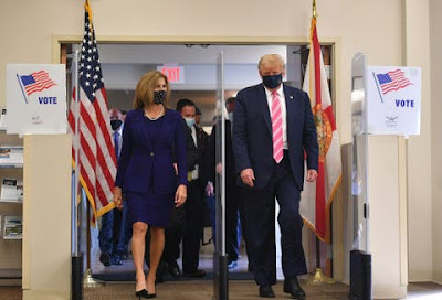 US election: Trump votes in Florida