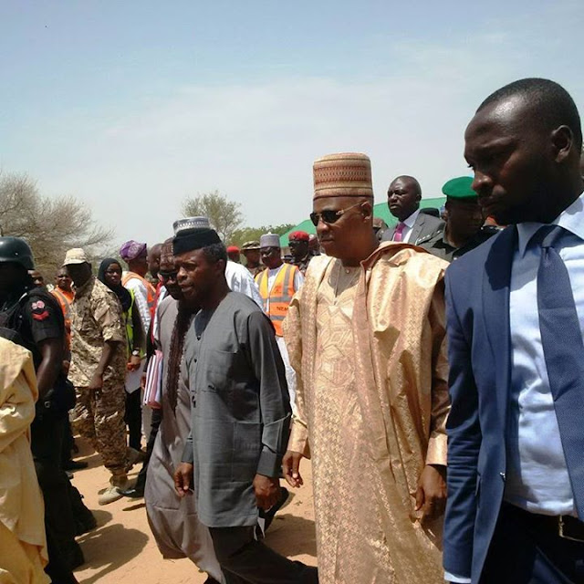 Vice President Osinbajo Pictured At Dalori IDP Camp In Maiduguri
