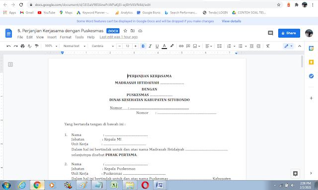Contoh Surat Perjanjian Kerjasama dengan Puskesmas