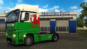 Cymru Wales skin for Mercedes MP4
