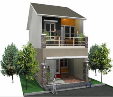 contoh gambar rumah tingkat minimalis