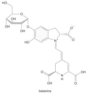 A fórmula estrutural da betanina está representada a seguir.