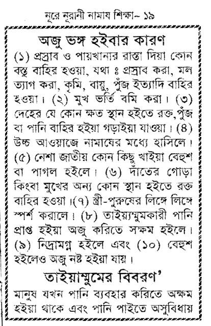 Bangla Namaz Shikha