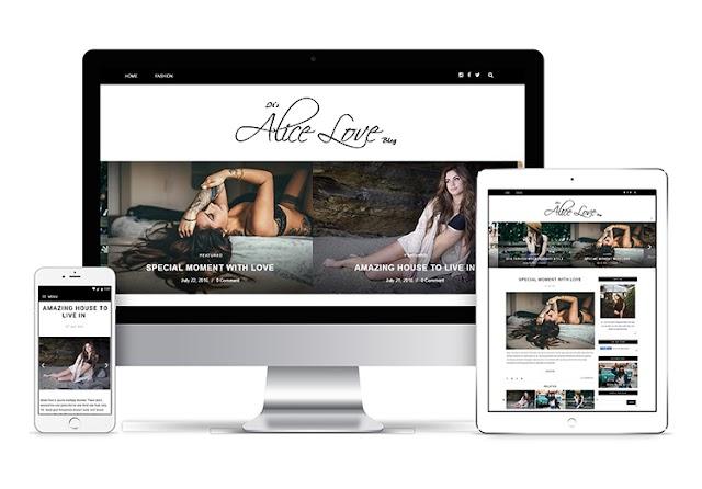 Alice Personal Premium Blogger Template Free Download