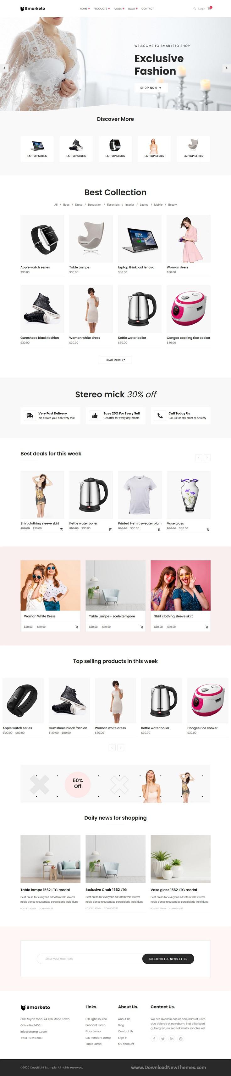 Minimal eCommerce HTML Template