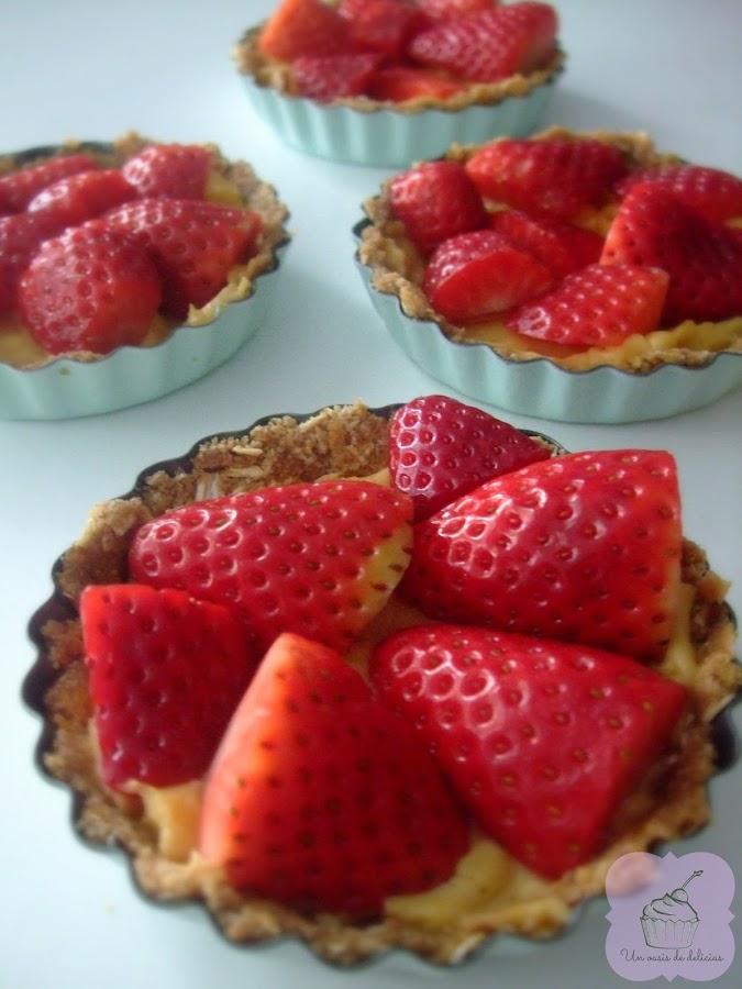 Tartaletas de fresa fit