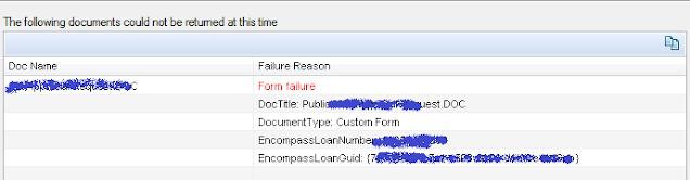 Form Failure