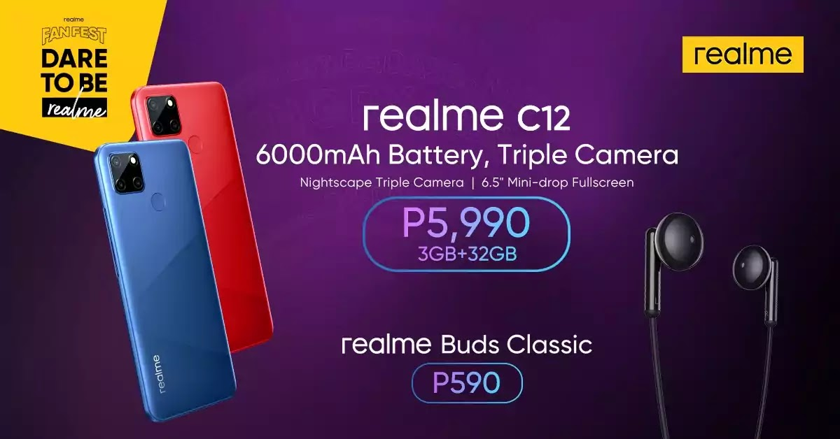 realme C12 and realme Buds Classic launch