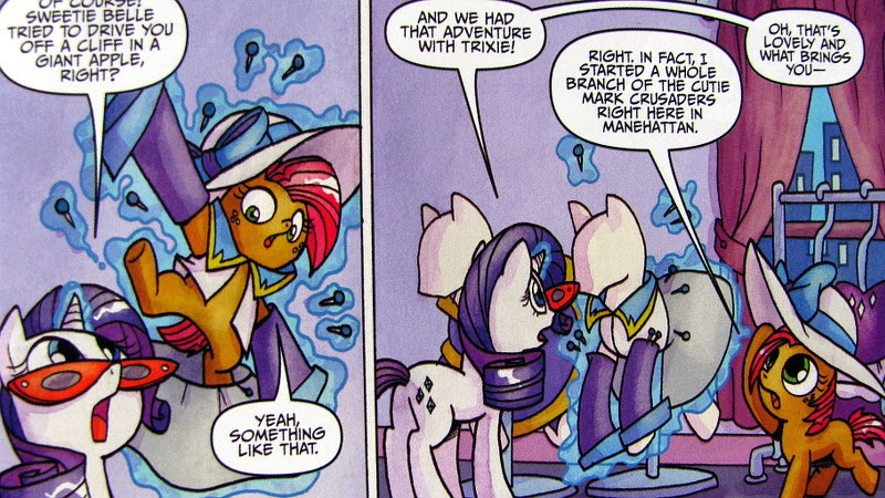 Babs and Rarity chat in Rarity's studio