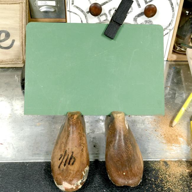 Vintage Shoe Form Chalkboard www.homeroad.net