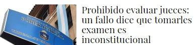 Prohibido evaluar jueces