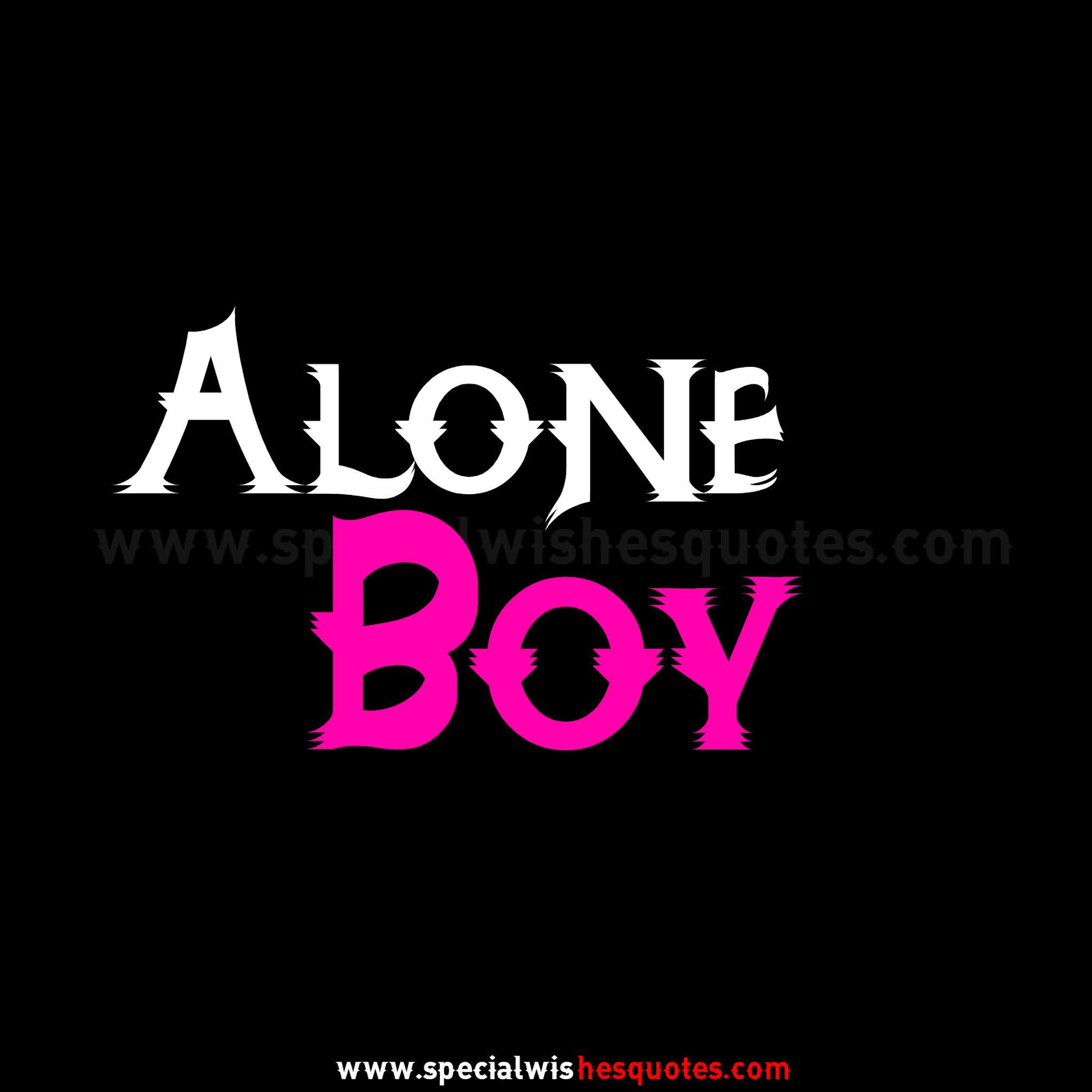 'Alone Boy Attitude Dp For Boys For Whatsapp'